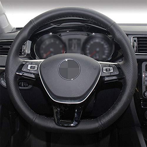 CYBHR DecoraciónHecha a Manodel Coche Cubierta del Volante del Coche, para Volkswagen VW Golf 7 Mk7 Nuevo Polo Jetta Passat B8