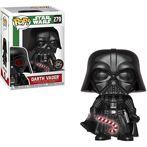 Darth Vader (Chase Edition): Star Wars Holiday x Funko POP! Vinyl Figure & 1 PET Plastic Graphical Protector Bundle