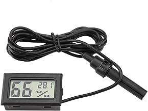 Garosa Termómetro Pantalla LCD Mini Higrómetro Pantalla De Temperatura De Humedad Integrada con Sonda Externa