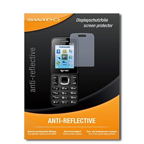 SWIDO Bildschirmschutz für Simvalley Mobile SX-305 Dual-SIM [4 Stück] Anti-Reflex MATT Entspiegelnd, Hoher Festigkeitgrad, Schutz vor Kratzer/Glasfolie, Schutzfolie, Bildschirmschutzfolie, Panzerglas Folie