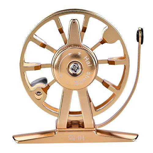 Dilwe Fly Angelrolle, Aluminiumlegierung Leichte tragbare Körper Spool Wheel Fly Rod Tackle Zubehör