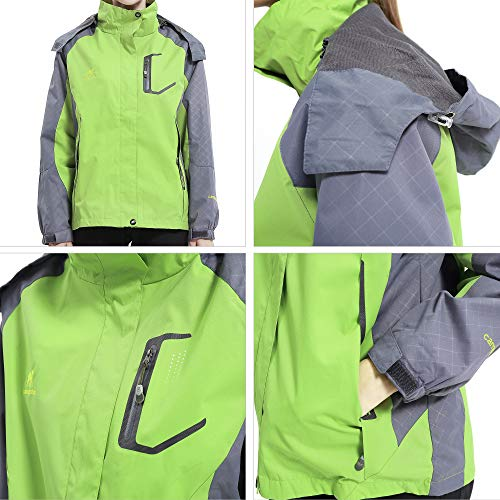51F8vRYwkdL. SS500  - Diamond Candy Women's Waterproof Jacket Outdoor Hooded Raincoat