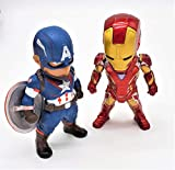 Ultimate Captain America and Iron Man Action Figure Superheroes Set