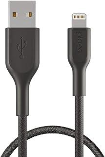 Playa by Belkin ライトニングケーブル iPhone 12 Pro / 12 / SE / 11 / XR 対応 MFi認証 編込 超高耐久 2m ブラック PMBK1002yz2M-A