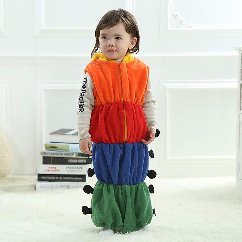 Baby Kids Cute Caterpillar Sleeping Bag Romper Sleepwear Swaddle Wrap Sack