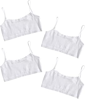 bluezoo Kids Girls Crop Bra Tops Age 7-14 Years Pack of Two Black and White