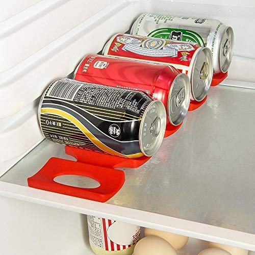 (Bottle Mats) - Prochive Silicone Beer Cola Wine Bottle Mats, Water Bottles & Food Cans Rack Holder Stack, Perfect Kitchen Cabinet And Fridge Stack Storage, Bottles Cans Fridge Organiser, 1 Pcs, R