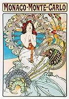 ポスター ミュシャ 『モナコ モンテカルロ』 A2サイズ【返金保証有 日本製 上質】 [インテリア 壁紙用] 絵画 アート 壁紙ポスター