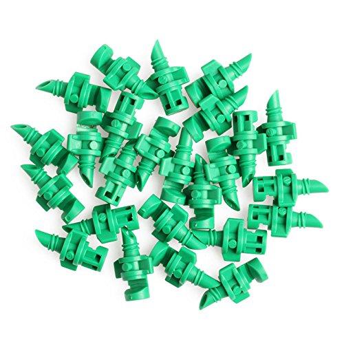 LANDUM 90 °/180 °/360 ° Pulvérisateur Buse Jet Monsieur clonage Machines hydroponique 25 Pièces, Plastique, Green, 1/2\