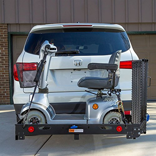 Silver Spring SC500-V3 Folding Steel Scooter and Wheelchair Carrier with Ramp