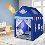 Kid's Play Tent Indoor Large Playhouse Children Play Castle Game House Tent for Boys & Girls Birthday Gifts Fairy Tents (Blue)
