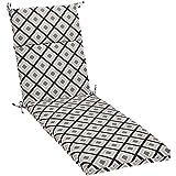 Amazon Basics Outdoor Lounger Patio Cushion - Black Geo