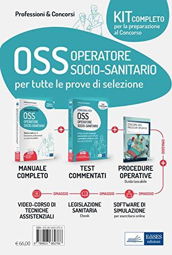 Kit dei concorsi per OSS Operatore Socio-sanitario. Volumi completi per la preparazione alle prove selettive. Con aggiornamento online. Con software di simulazione