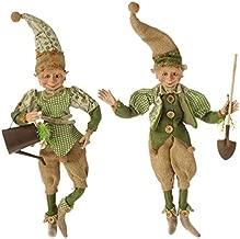 RAZ Imports 18 Posable Garden Elves (Set of Two)