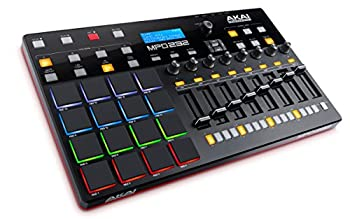 Akai Professional MPD232 | MIDI Drum Pad Controller with Software Download Package  16 pads / 8 knobs / 8 buttons / 8 faders