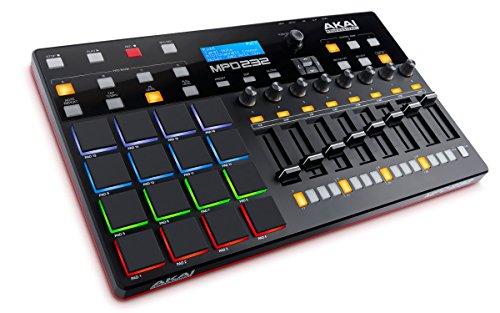 AKAI Professional MPD232 - USB MIDI Controller mit 16 MPC Pads, Step Sequenzer, Regler, frei zuweisbaren Parametern und Software Paket