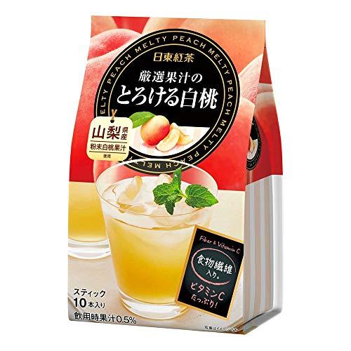 三井農林 日東紅茶 厳選果汁のとろける白桃 1袋(10本)