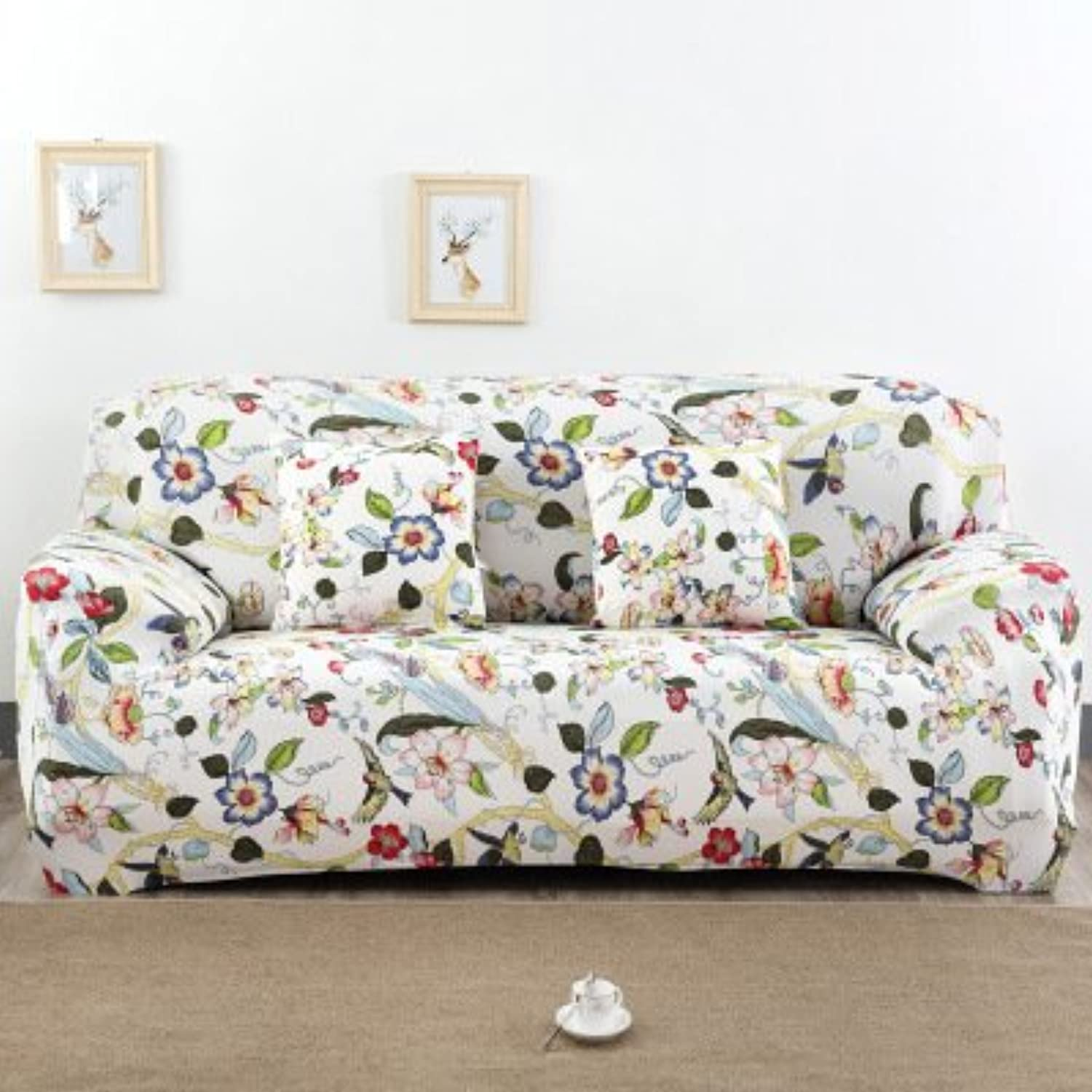 Farmerly WLIARLEO Sofa Cover 100% Polyester Modern Big Elastic Slipcover for Double Three Four Seat Cover for Couch Soft Cover Sofa   Sofa Cover 6, Single seat 90-140cm