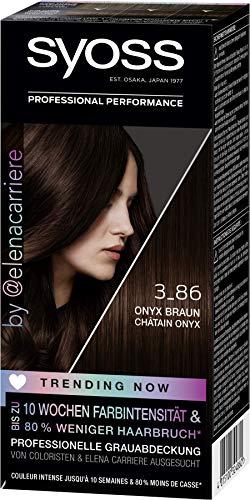 SYOSS Trending Now Coloration Stufe 3 3_86 Onyx Braun, von Coloristen & Elena Carriere ausgesucht, 3er Pack (3 x 115 ml)