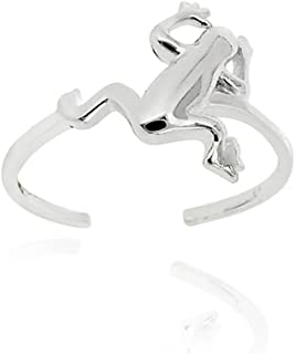 Sterling Silver Jumping Frog Toe Ring
