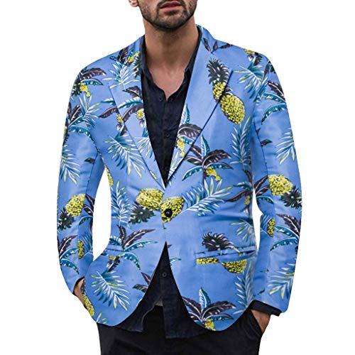 Briskorry sakko herren slim fit Sakko Anzugjacke mit Knopf Freizeit Blumendruck Lange Ärmel Vintage Tweed Design Jacken Mäntel