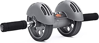 Merdia Abdominal Exercise Roller Wheel Core & Abdominal Trainers Double Wheels Fitness Equipment with Smart Brake and Rebound Knee Pad