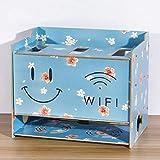 Router de WiFi Set Top Box Estante para Reproductor de DVD Dormitorio Sala Estante de Almacenamiento de Cable de alimentación de zócalo Caja de Acabado de Almacenamiento de Escritorio (Color : A)