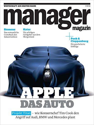 manager magazin 7/2016: Apple - Das Auto