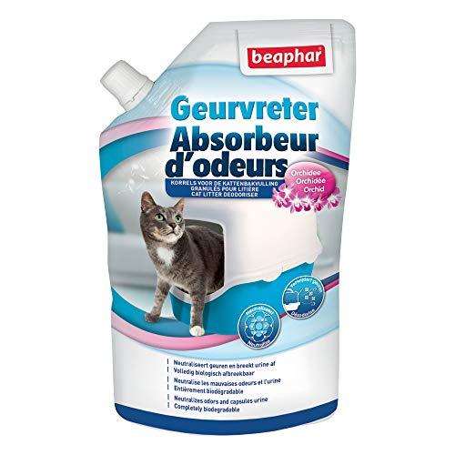 Beaphar–Absorbedor de olores en cristales para aroma de orquídea del Arena de gato–400g