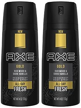 Axe Gold Oud Wood and Dark Vanilla Deodorant Body Spray 4.0 oz  Pack of 2