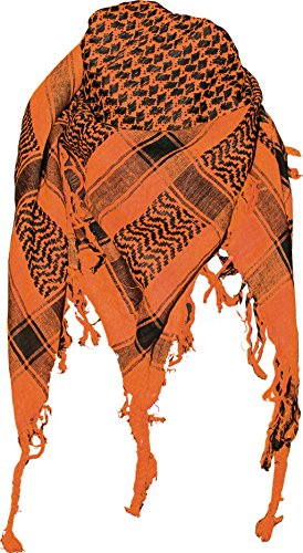 Doktor Hardstuff Original Arafat Tuch - Orange Schwarz