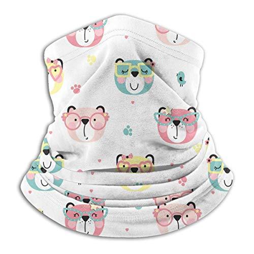 Lawenp lindo patrón de osos bufanda facial de retención térmica para clima frío para hombres y mujeres