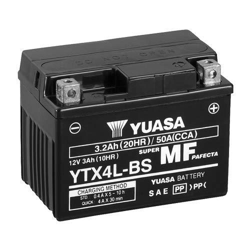 Motorrad Batterie YUASA YTX4L-BS, 12V/3AH (Maße: 114x71x86)