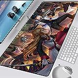 Sword Art Online Gaming Alfombrillas de ratón para Jugadores Accesorios de computadora Alfombrilla de ratón XXL Teclado de Goma Pc Alfombrilla de Escritorio Protector de Papel secante (15X35in)