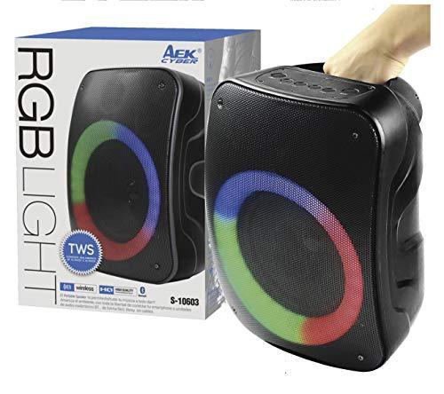 Altavoz Speaker TWS Bluetooth Led RGB Light S-10603 AEK Cyber Función Karaoke