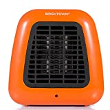 Mini Desk Heater, 400W Low Wattage Personal Ceramic Heater with Tip Over Protection for Office Table Indoors, Compact, Orange