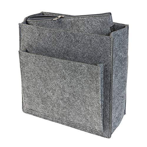Rucksack Organizer aus Filz, grau (Farbe wählbar) für u.a. Fjällräven Totepack No 1   Taschenorganizer mit Fach für 13 Zoll Laptop