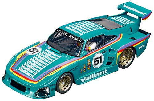 Carrera Evolution 1: 32 Scale Analog Slot Car Racing Vehicle - 27612 Porsche Kremer 935 K3 Vaillant #51