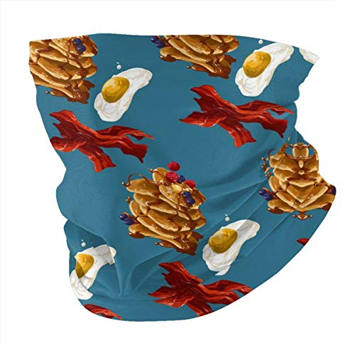 Bacon Egg Man Woman Seamless Scarf Balaclava Mask-Neck Gaiter Head Cover Mask Sunscreen UV Protection for Holidays Reusable