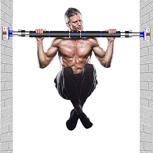 Photo of HAKENO Pull Up Bar Doorway Chin up Bar No Screw Installation Adjustable Width Wall Bar Locking Mechanism Heavy Duty Gym Exercise Fitness Bar