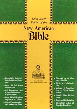 The New American Bible: Burgundy, Simulated Leather, Stained Edges, Saint Joseph Personal Size Edition