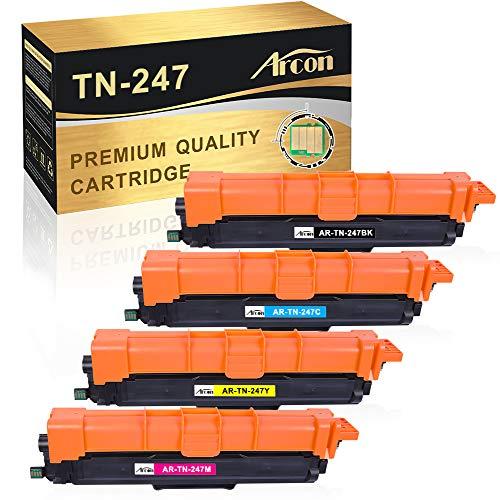 Arcon Kompatibel Toner Cartridge Replacement für Brother TN-247 TN247 TN-247BK TN-243 TN243 Brother MFC-L3770CDW MFC-L3750CDW DCP-L3550CDW HL-L3210CW DCP-L3510CDW MFC-L3730CDN MFC-L3710CW HL-L3270CDW