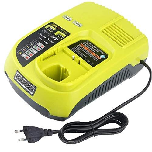 12V-18V recargable universal cargador de batería para Ryobi P100 P102 P108 P117 P118 con puertos USB de carga rápida,Suministros de herramientas y accesorios Normativas Europeas