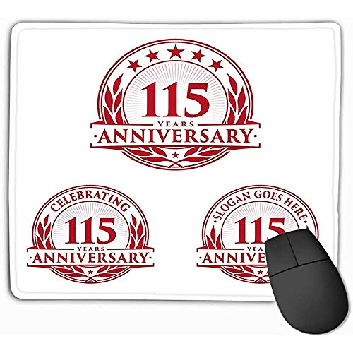 Mouse Pad Template Aniversario TH Logo Años celebrando Ideal Refrescante Rectángulo Goma Mousepad 25 * 30Cm
