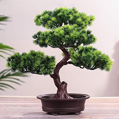 Lionina - Pino artificial para bonsái, simulación de hogar, planta de pino, decoración para macetas, flores artificiales, plantas verdes, macetas de plantas, simulación creativa de bonsái