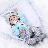 HOOMAI 22inch 55CM schlafend Reborn Babys Junge Silikon Vinyl Puppen lebensecht Doll Boy Günstig...