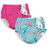 i Play 2 Pack Girls Reusable Absorbent Leakproof Swimming Baby...