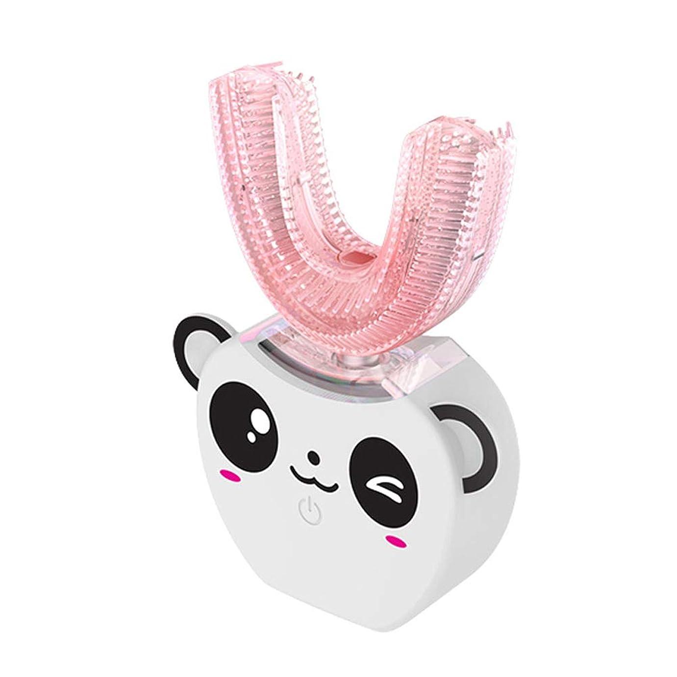 広々としたウルルテーブル子供のU字型超音波電動歯ブラシ子供自動歯磨き粉360°歯ホワイトニング8-16年