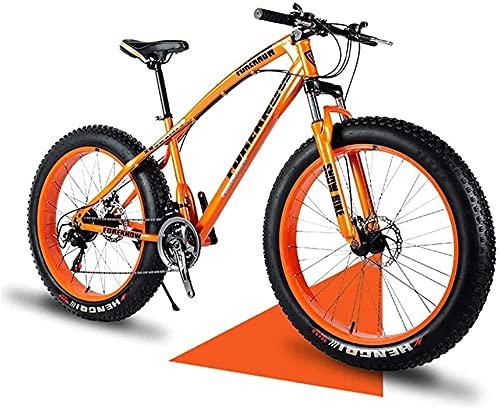 XUERUIGANG 20/24/26 Pollici Mountain Mountain Bikes, Pneumatici Grassi Mountain Bike, Dual Sospensione Telaio e Sospensione Forcella Tutto Terreno Mountain Bike, 21 velocità Colori Multipli