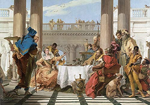 Home Pub Bar Deco Wall Decor Poster 12x16,Giovanni Battista Tiepolo(The Banquet of Cleopatra),Wall Plaque Retro Aluminum Metal Sign Wall Decoration, Wall Hanging Plaque